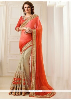 Voluptuous Art Silk Embroidered Work Classic Designer Saree