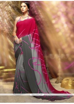 Miraculous Crepe Silk Print Work Printed Saree