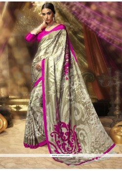 Sightly Multi Colour Printed Saree