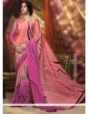 Urbane Print Work Crepe Silk Printed Saree