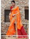 Magnetic Patch Border Work Printed Saree