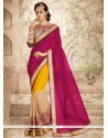 Multi Colour Patch Border Work Georgette Traditional Saree