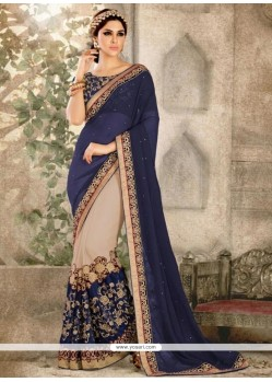 Impeccable Georgette Embroidered Work Traditional Saree