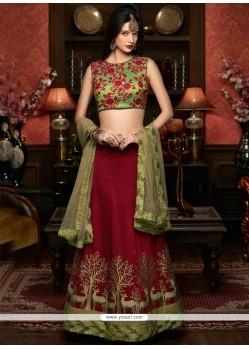 Flattering A Line Lehenga Choli For Wedding
