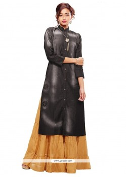 Mod Denim Party Wear Kurti