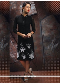 Suave Black Georgette Party Wear Kurti
