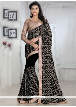 Innovative Embroidered Work Trendy Saree
