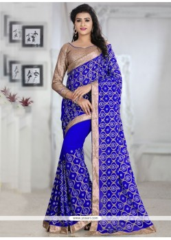 Prodigious Georgette Patch Border Work Traditional Designer Sarees