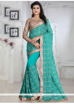 Modernistic Patch Border Work Classic Saree