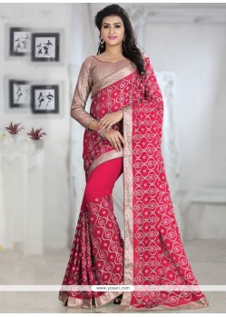 Simplistic Georgette Patch Border Work Designer Traditional Sarees