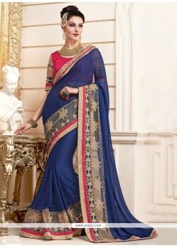 Flawless Navy Blue Classic Designer Saree