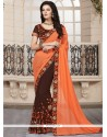 Trendy Brown Georgette Traditional Saree