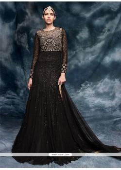 Sparkling Embroidered Work Net Designer Floor Length Salwar Suit