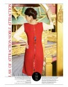 Red And Cream Kurti