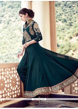 Competent Georgette Embroidered Work Anarkali Salwar Kameez