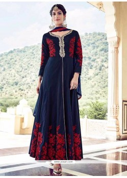 Excellent Navy Blue Anarkali Salwar Kameez