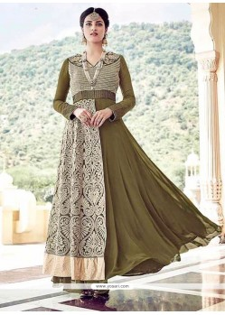 Distinguishable Lace Work Anarkali Salwar Kameez