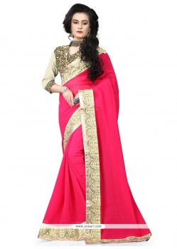 Adorable Hot Pink Traditional Saree