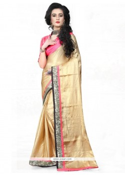Staggering Silk Embroidered Work Traditional Saree
