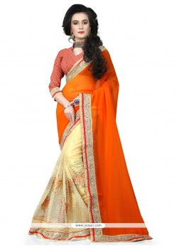 Dignified Net Embroidered Work Designer Traditional Sarees