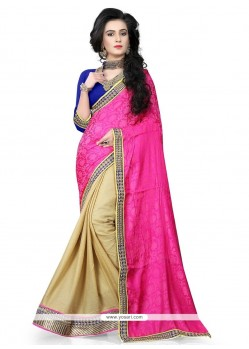 Delightsome Hot Pink Traditional Saree