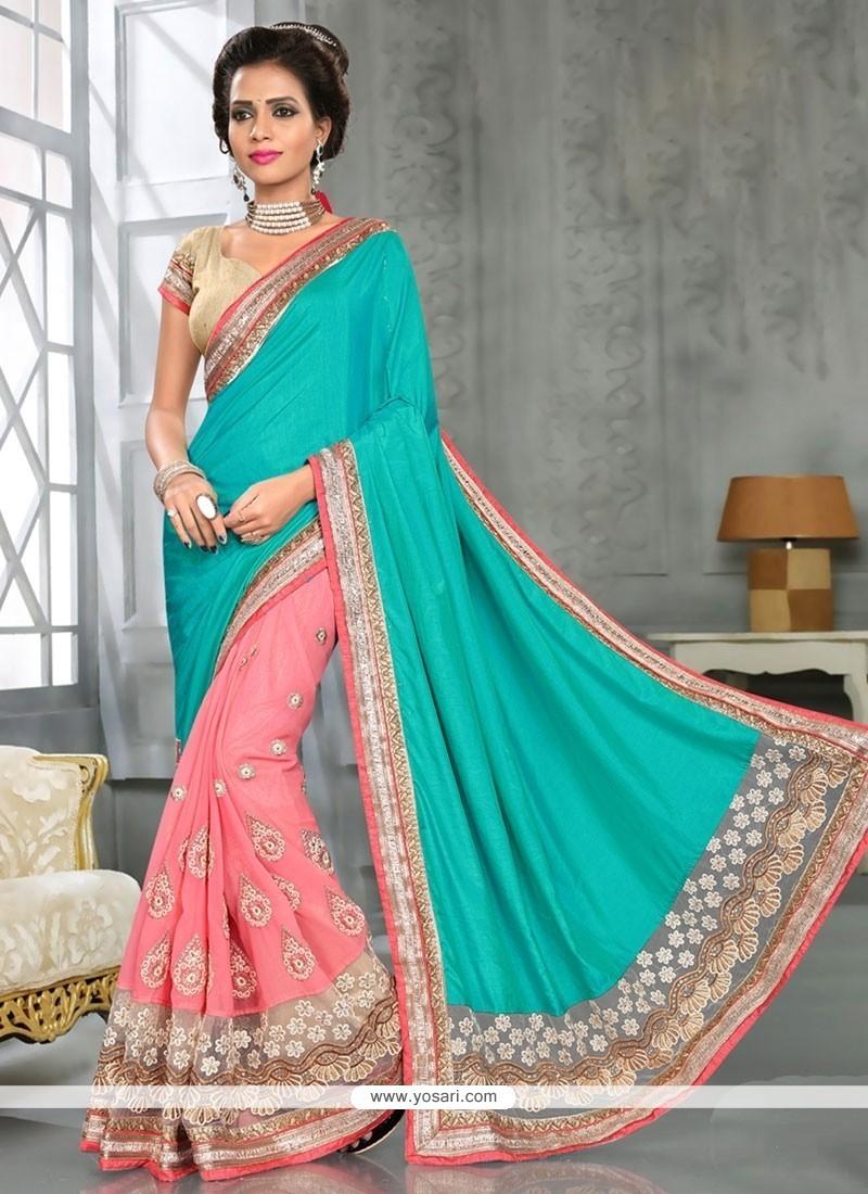 Exceeding Georgette Pink Designer Traditional Sarees