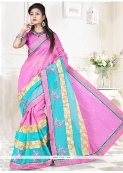 Vivacious Pink Classic Designer Saree