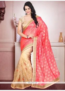 Preferable Designer Half N Half Saree For Bridal