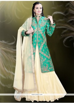 Preferable Raw Silk Embroidered Work Designer A Line Lehenga Choli