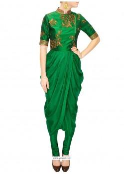 Beauteous Raw Silk Designer Kurti