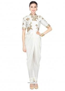 Beauteous White Georgette Designer Kurti