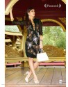 Print Black Color Kurti