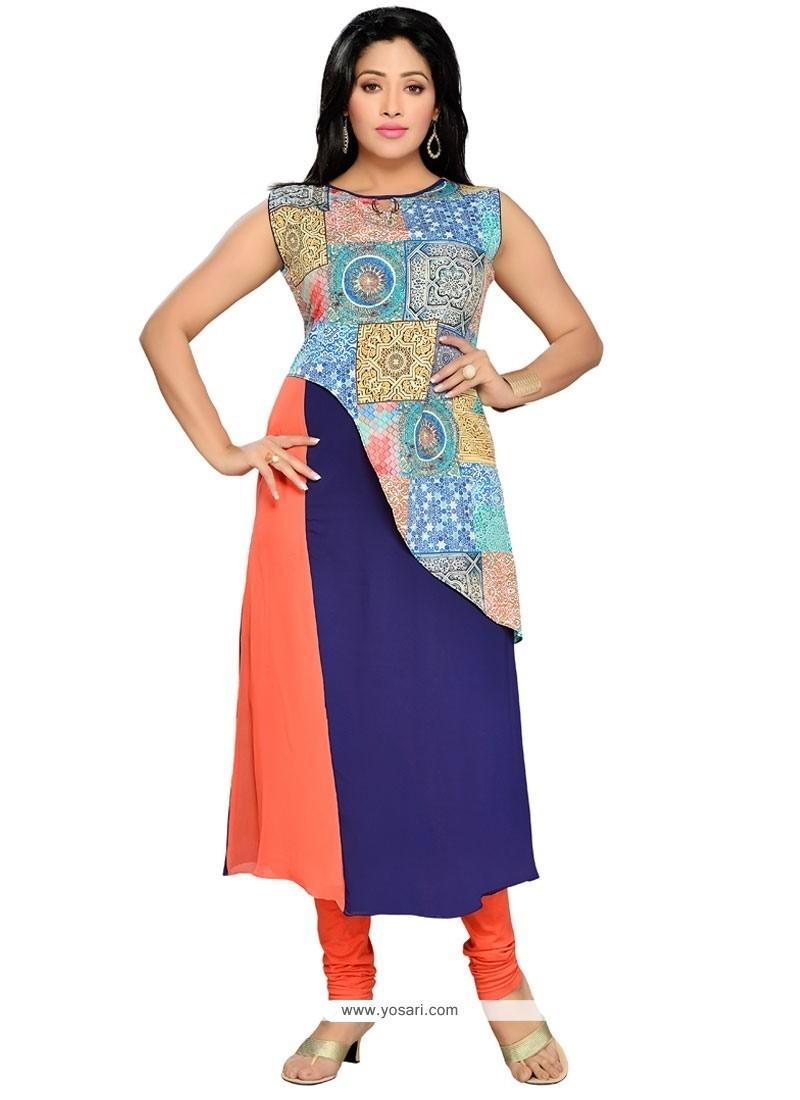 Buy Modernistic Multi Colour Party Wear Kurti Party Wear