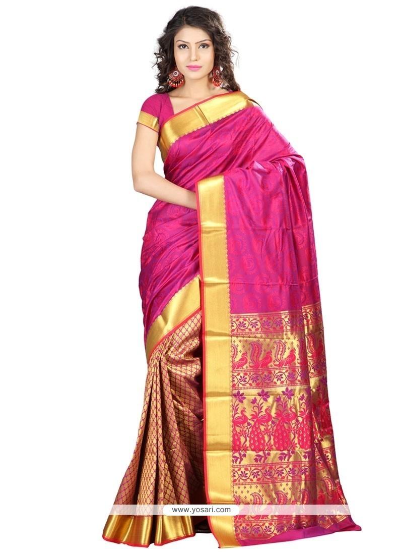 2bbcb47de9 Buy Resplendent Weaving Work Art Silk Traditional Saree | Designer ...