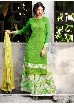 2bdcd7d902 Buy Thrilling Yellow Designer Palazzo Suit | Palazzo Salwar Suits