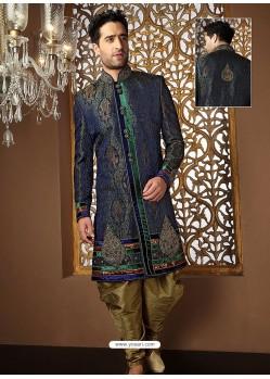 Fabulous Banarasi Jamawar Silk Sherwani