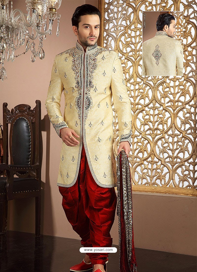 wedding ideas with kids buy fancy look banarasi silk sherwani sherwani 28359