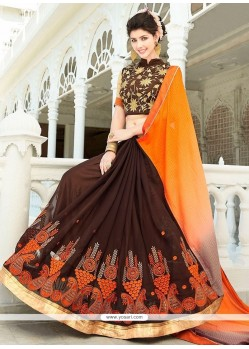 Superb Embroidered Work Designer Half N Half Saree