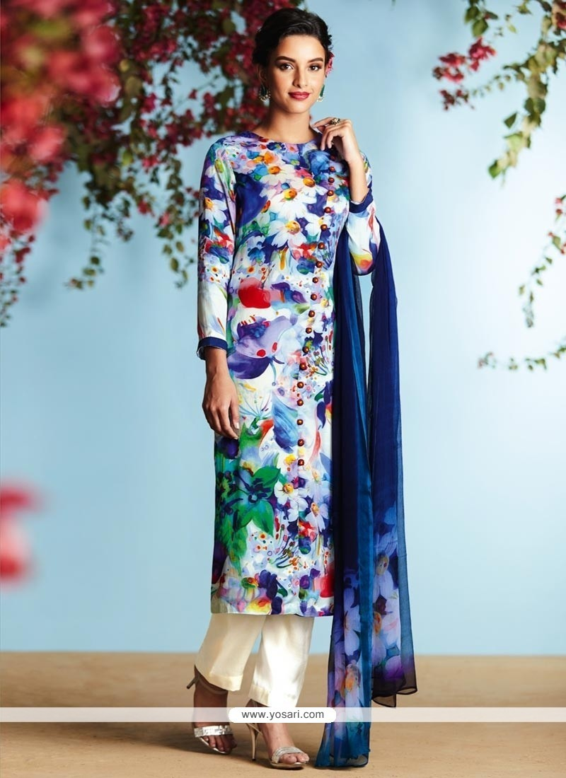 Buy Monumental Digital Print Work Satin Designer Palazzo Suit