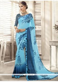 Latest Art Silk Print Work Casual Saree