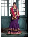 Deepika Singh Purple Pure Georgette Lehenga Choli