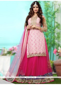 Pink Georgette Wedding Lehenga Choli