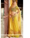 Amazing Yellow Jacquard Lehenga Choli