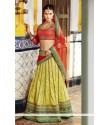 Glorious Green Banarasi Jacquard Lehenga Choli