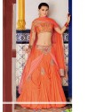 Fab Orange Net Designer Lehenga Choli