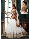 Latest White Jacquard Lehenga Choli