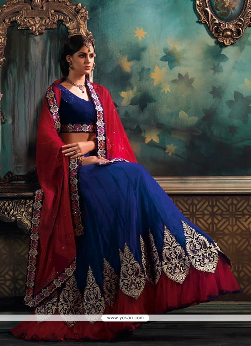 Awesome Blue Net Lehenga Choli