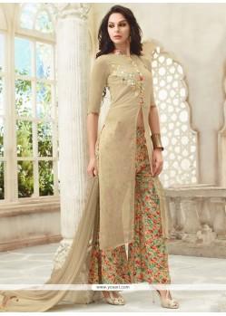 Buy riveting georgette print work designer palazzo salwar kameez palazzo salwar suits for How to design salwar kameez at home