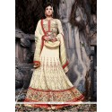 Yellow Embroidery Net Lehenga Choli