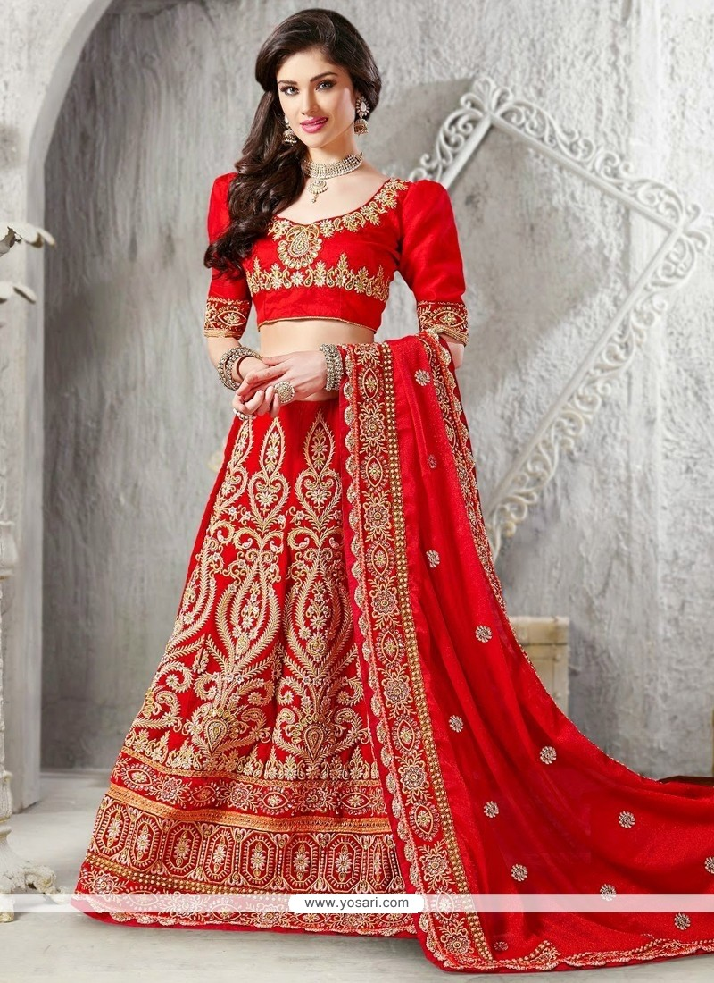 Fabulose Red Velvet Lehenga Choli